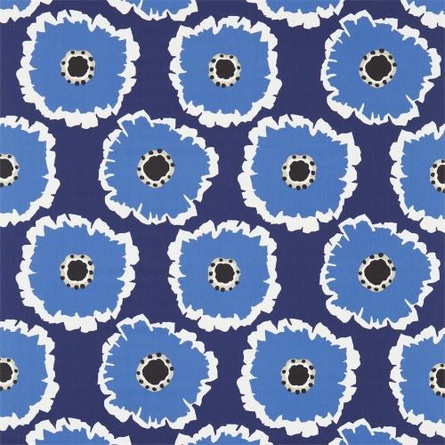 Sanderson Papavera Indigo/Marine Fabric 224615