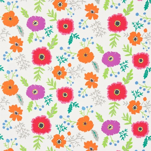 Sanderson Wind Poppies Cerise/Magenta Fabric 224618