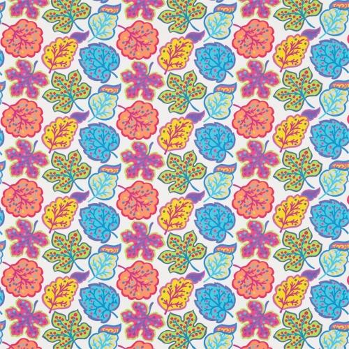 Sanderson Jewel Leaves Brights Fabric 224622