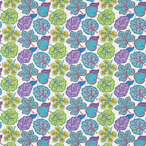 Sanderson Jewel Leaves Fig/Teal Fabric 224624