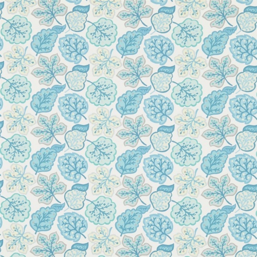 Sanderson Jewel Leaves Mineral/Dove Fabric 224625