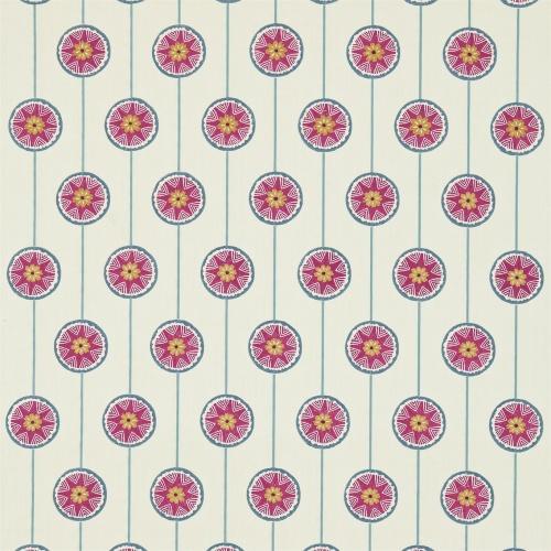 Sanderson Tambourine Slate/Berry Fabric 234658