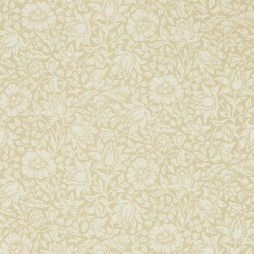 Morris & Co Mallow Soft Gold Wallpaper 216677