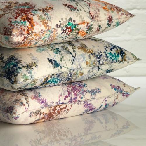 Fibre Naturelle Camille Pervenche Curtain Fabric GICA/01