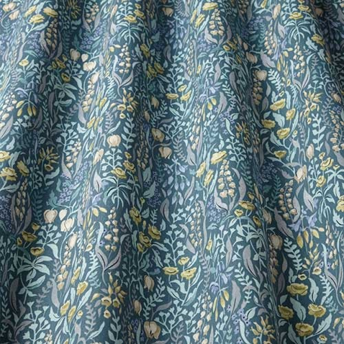 Swatch Box Kelmscott Prussian Curtain Fabric