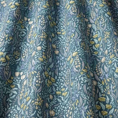 Swatch Box Kelmscott Prussian Curtain Fabric
