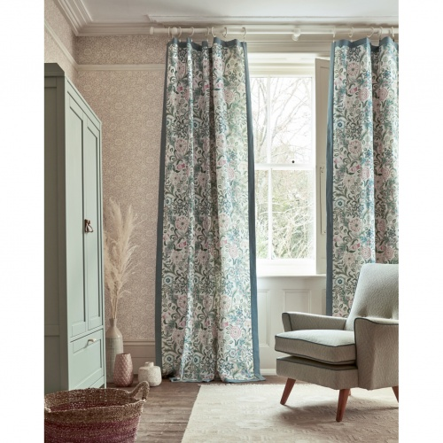 Morris & Co Wilhelmina Teal Fabric 226604
