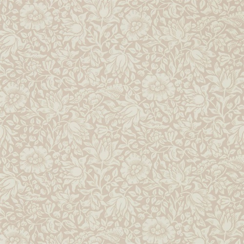 Morris & Co Mallow Dusky Rose Wallpaper 216675