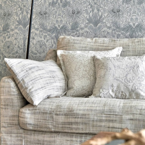 Morris & Co Pure Laxa Weave Cloud Grey Fabric 236603