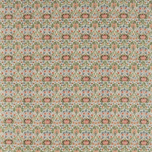 Morris & Co Little Chintz Olive/Ochre Fabric 226408