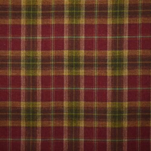 Chess Designs Balmoral Claret Fabric