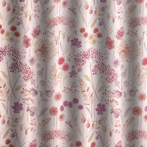 Voyage Flora Cream Plum Curtain Fabric
