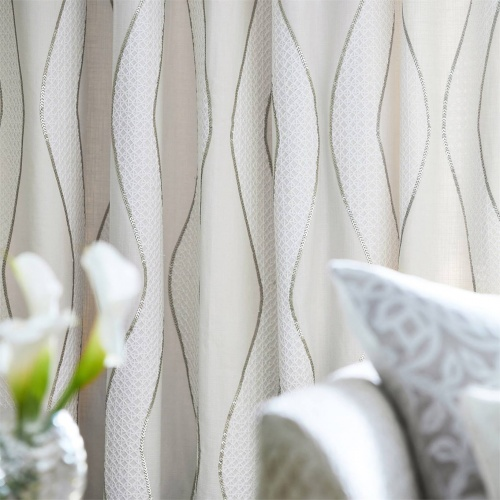 Harlequin Chime Brass Curtain Fabric 132664
