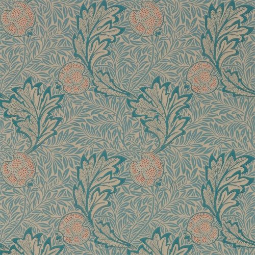 Morris & Co Apple Indigo Antique Wallpaper 216690