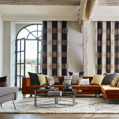 Harlequin Bora Paprika/Lagoon/Kiwi Curtain Fabric 132643
