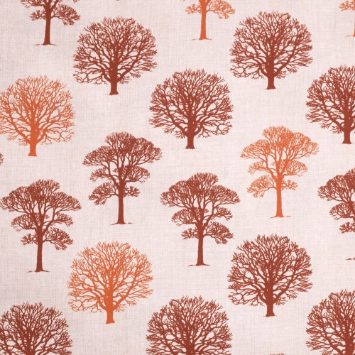 Gordon Smith Oak Terracotta Curtain Fabric
