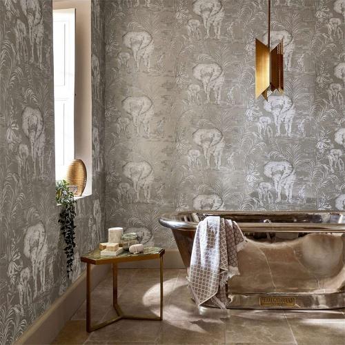 Harlequin Kinabalu Silver Wallpaper 111777