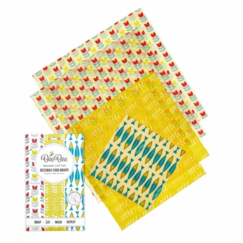 Bee Bee Organic Cotton Beeswax Wraps Family Collection