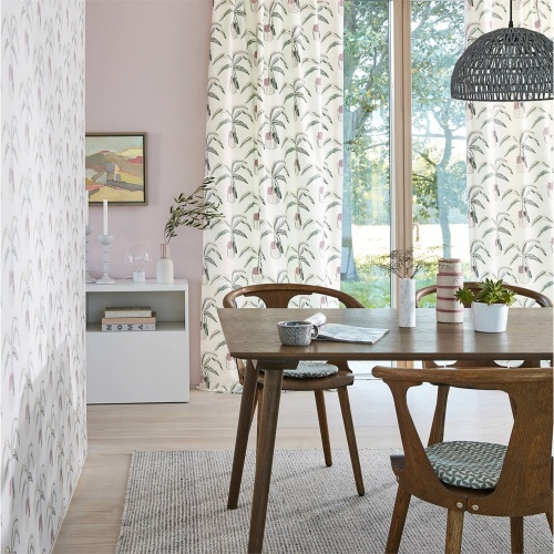 Scion Crassula Blush/Brick/Mist Fabric 132862