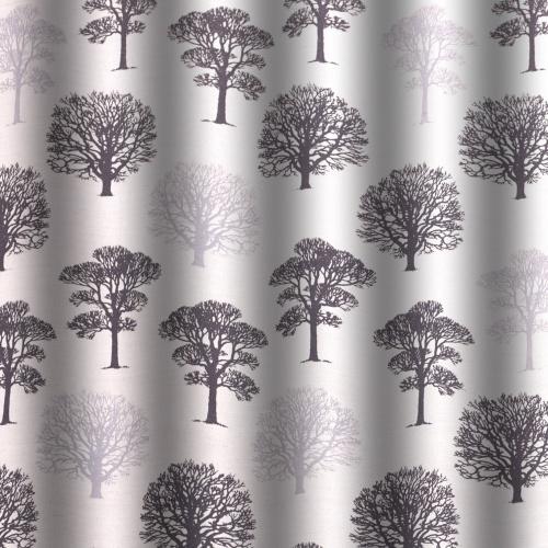 Gordon Smith Oak Heavy Linen Black Curtain Fabric