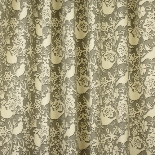 Gordon Smith Shadow Bird Grey Curtain Fabric