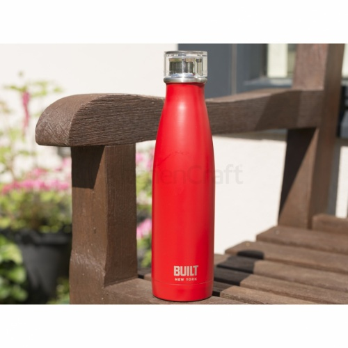 Built 500ml Double Walled Stainless Steel Water Bottle Red