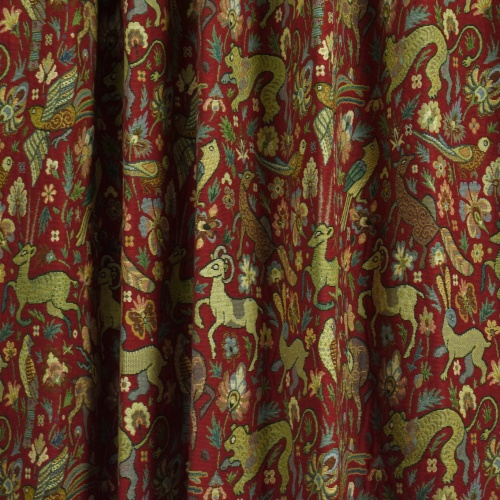 Gordon Smith Bangalore Red Fabric