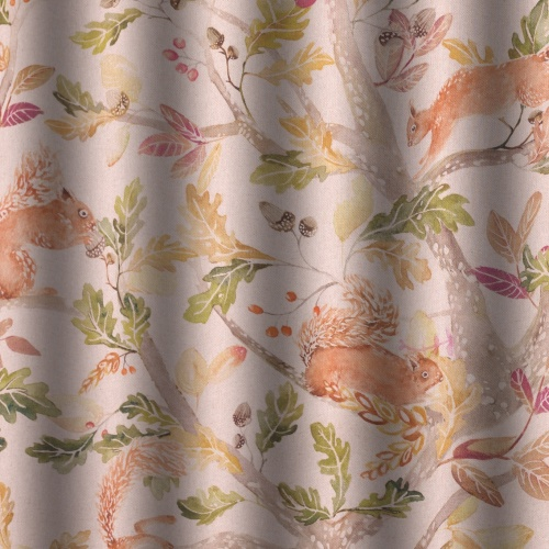 Voyage Scurry of Squirrels Curtain Fabric
