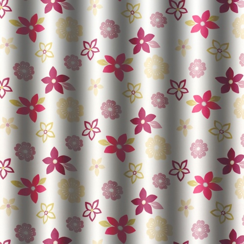 Gordon Smith Funky Flowers Purple Fabric 5.4m Remnant