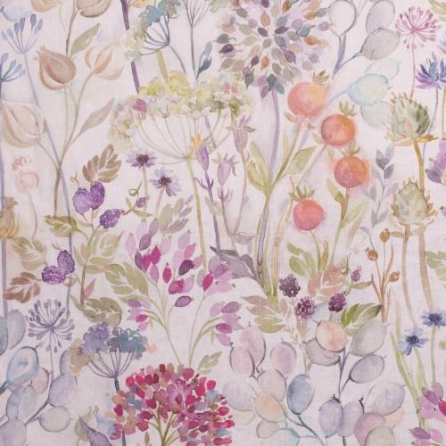 Voyage Hedgerow Cream Curtain Fabric