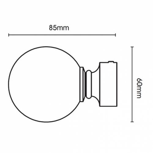 Swish Belgravia 28mm Chrome Metal Pole