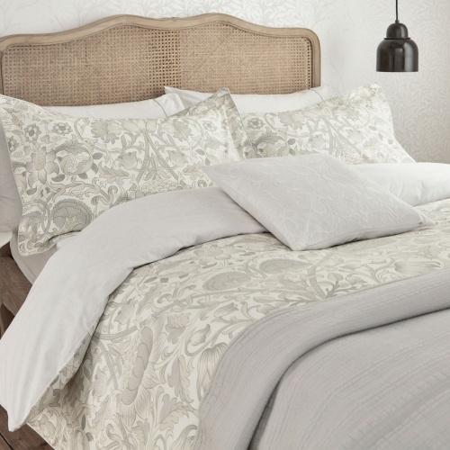 William Morris Pure Lodden Single Duvet Cover Chalk/Eggshell