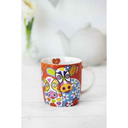 Maxwell & Williams Happy Moo Day Mug & Coaster Set