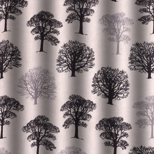 Gordon Smith Oak Black Curtain Fabric