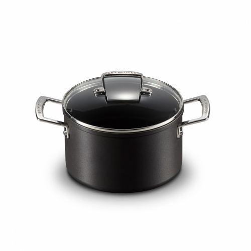 Le Creuset NEW Toughened Non-Stick 20cm Deep Casserole with Glass Lid