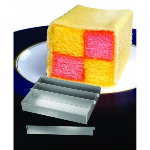 Battenburg Cake Pan 8 x 6ins / 20 x 15cm