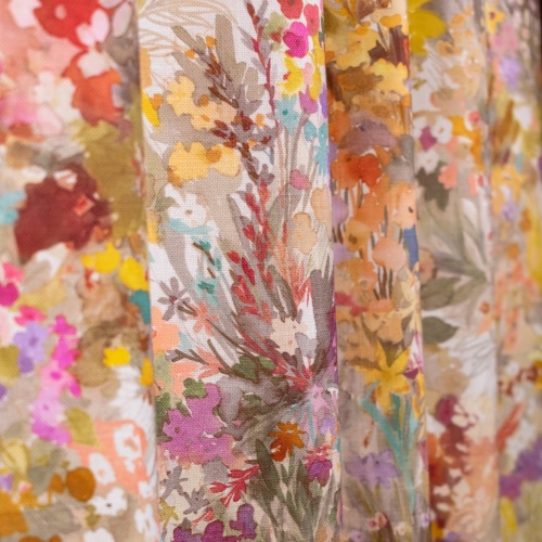 Fibre Naturelle Secret Garden Paraiso Curtain Fabric SG/02