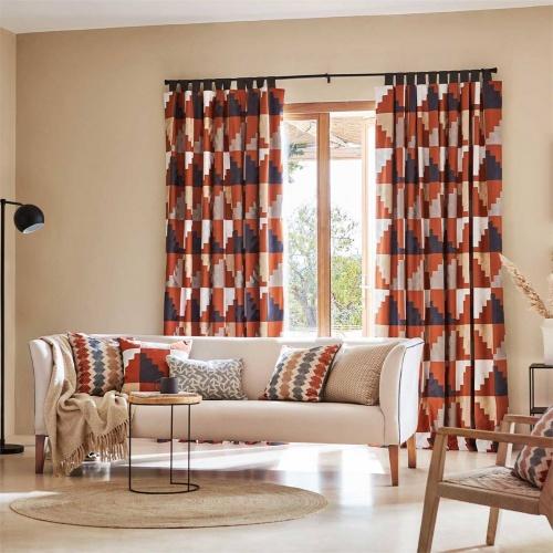 Harlequin Mehari Harissa/ Oyster/ Charcoal Curtain Fabric 133052