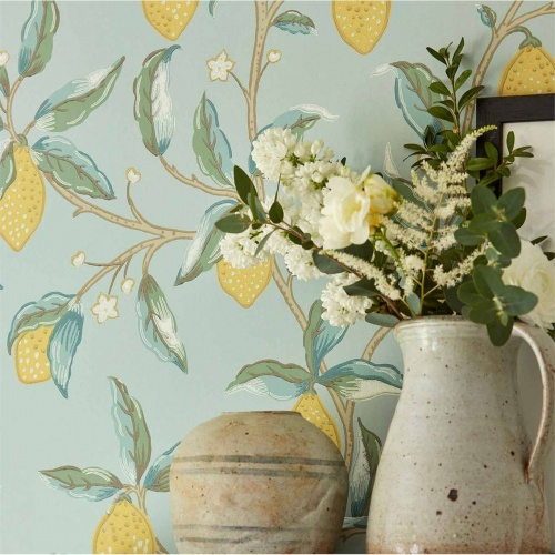 Morris & Co Lemon Tree Bay Leaf Wallpaper 216672