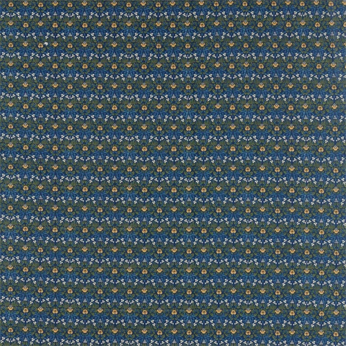 Morris & Co Eye Bright Indigo Fabric 226597