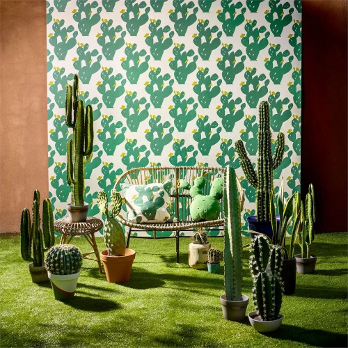 Scion Opunita Forest/Lime Curtain Fabric 120732