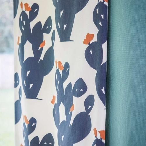 Scion Opunita Charcoal/Paprika Curtain Fabric 120713