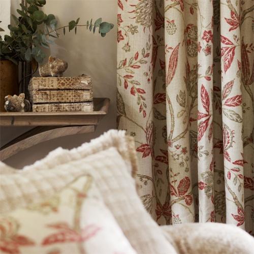 Sanderson Solaine Russet/Cream Fabric 223975