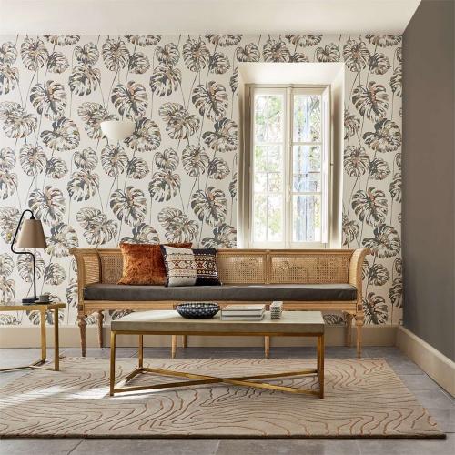Harlequin Kelapa Charcoal/Blush Wallpaper 111754