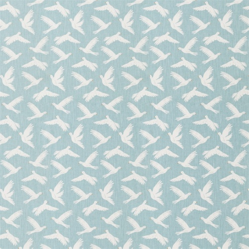 Sanderson Home Paper Doves Duck Egg Fabric 226351