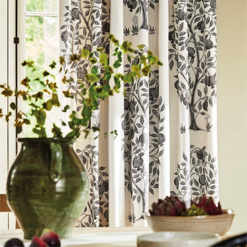 Sanderson Anaar Tree Charcoal Fabric 226630