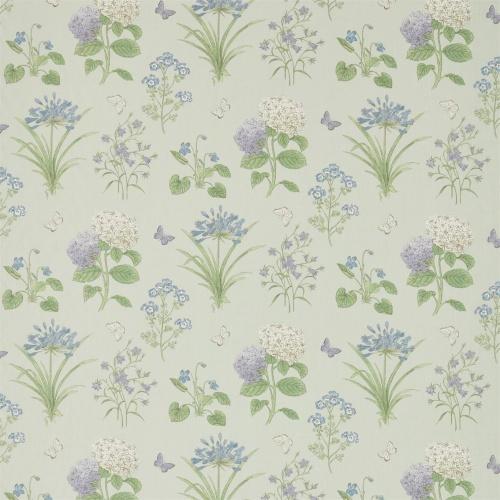 Sanderson Harebells Violets Sorrel Sky Blue Fabric 225518