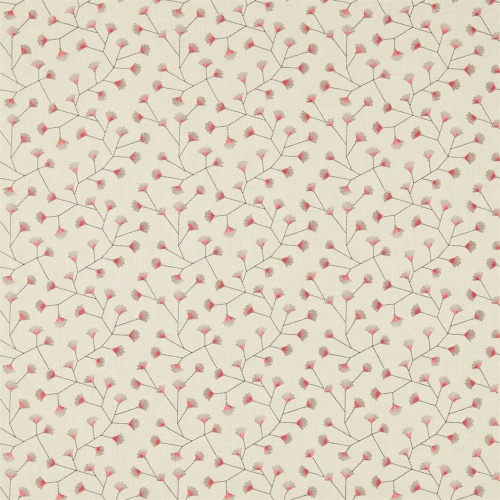 Sanderson Home Gingko Trail Coral/Celadon Curtain Fabric 235885