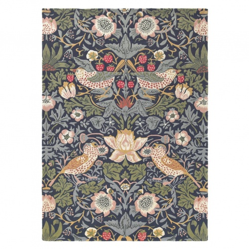 Morris & Co Strawberry Thief Indigo Rug 27708