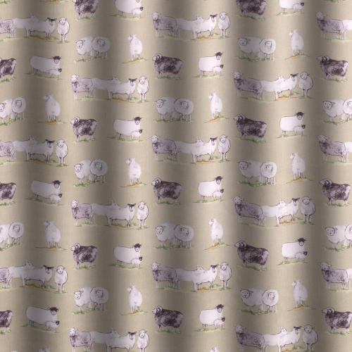 Gordon Smith Sheeps Green Curtain Fabric